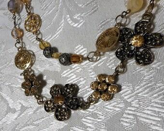 Golden Garden Double Strand Delight Necklace