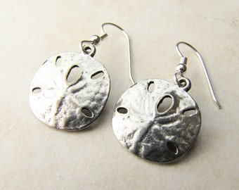 Sand Dollar Earrings, Seashell Earrings, Sea Shell, Beach Jewelry, Beach Earrings, Shell Earrings, Silver Shell, Sterling Silver, Ocean