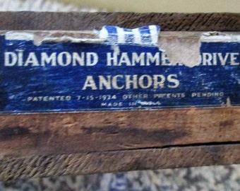 Vintage Wood Box.   Diamond Expansion Bolt Co.  G-182