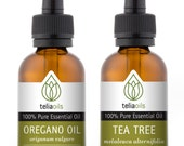 TOP - QUALITY Essential Oils Set 2/30 Ml (Tea Tree, Wild Oregano Oil) - 100% Pure, Therapeutic Grade, for Aromatherapy Gift Collection