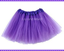 Purple Sophia birthday party tutu,35 COLORS,  Dress Up tutus, Purple Princess tutu, birthday party favor tutu, birthday favor tutu