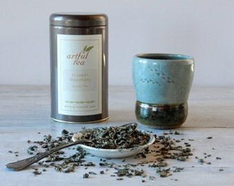 Organic Gunpowder Green Tea • 4 oz. Tin • Classic Chinese Green Tea • Luxury Loose Leaf Tea
