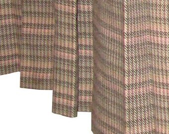 Vintage Fletcher Jones Box Pleated Skirt Wool Pink Green Size 17 Australia
