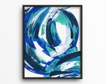 Abstract Artwork Original Art Blue Decor Canvas Wall Art Wall Decor Interior Design Living Room Decor Bedroom Decor Home Decor 16x20 Canvas