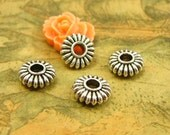 50 pcs Spacer Beads Antique Silver 10mm CH2662