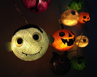 Halloween set serie 2 Cotton ball string lights fairy lights for Halloween night, Halloween Lights, Party Lights, Fairly Lights