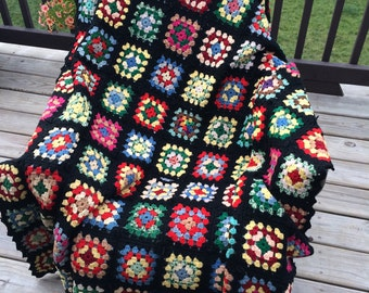 Vintage cute colorful afghan