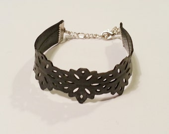 Bicycle Inner Tube Bracelet - Hand Punched