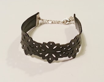 50% OFF - 1/2 PRICE - Bicycle Inner Tube Bracelet - Hand Punched