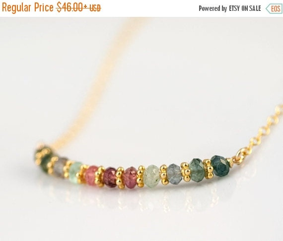 18th Birthday Cz T Bar Sterling Silver Heart Bracelet Can: Multi-Colored Tourmaline Necklace