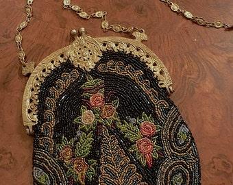 Victorian Style Vintage Beaded Handbag