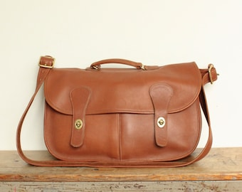 Vintage Coach Musette Bag // Carrier Bag // Messenger Briefcase British Tan // Coach Tote Laptop Bag
