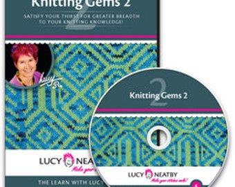 On SALE: 50% OFF!  Lucy Neatby's Knitting Gems 2 DVD
