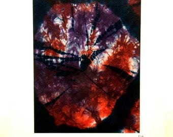 Dark reds and purples - original shibori wall art