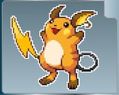 RAICHU Sprite vinyl decal from Pokemon Sticker for Just about Anything!