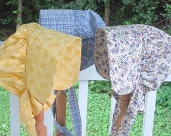 ABBY - Girls Prairie Bonnet - One Size