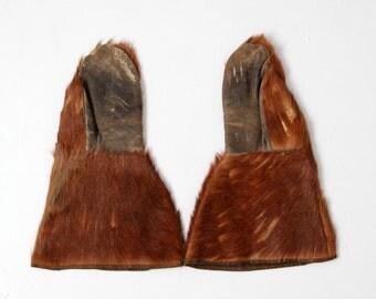 antique fur mittens