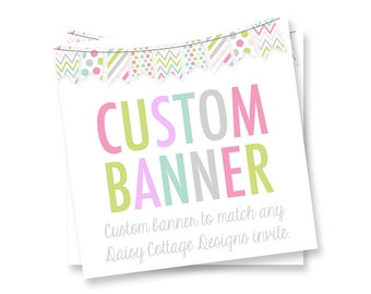 Custom Banner Add On - Made to Match