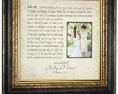 Wedding Picture Frame Mother of the Bride Gift, Parents Thank You Mom Dad Wedding Dates Frame, love wedding cake topper decoration, 16 X 16