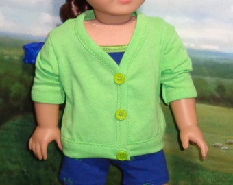 Swimsuit, Shorts, Cardigan, and Shoes for 18 inch Dolls