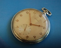 Cyma Vintage Pocket Watch 15 Jewels 1950s