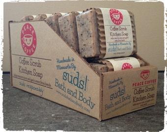 Peace Coffee Scrub Kitchen Soap - Coffee Soap, Natural Soap, Handmade Soap