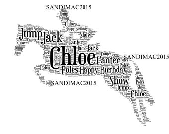 Horse Personalised Word Art Print