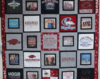 T-shirt & Photo Memory Quilt