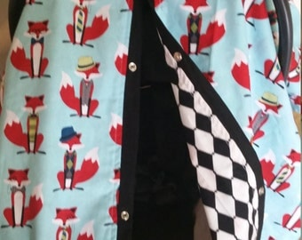 Carseat Canopy All Dressed Up Fox Reversible