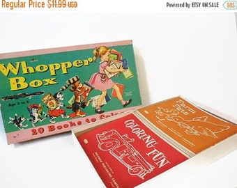 Autumn Clearance Sale Vintage Coloring Book Set: Whopper Box 20 Books to Color