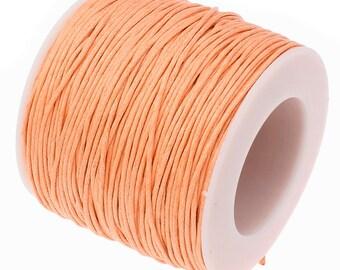 Waxed Cord : Peach 1mm Waxed Cord String / Bracelet Cord / Macrame Cord / Chinese Knotting Cord  [Choose 10 feet or 30 feet] 155