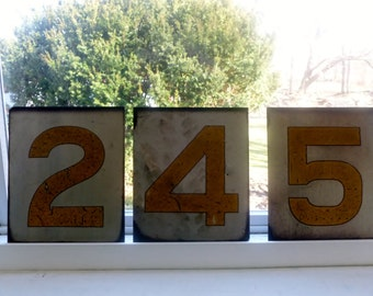 Vintage Metal Numbers,signs, address numbers, metal art