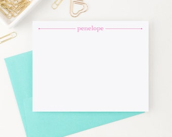 Personalized Stationery // Simple Stationary for girls  // Personalized Thank you cards // Personalized Note Cards