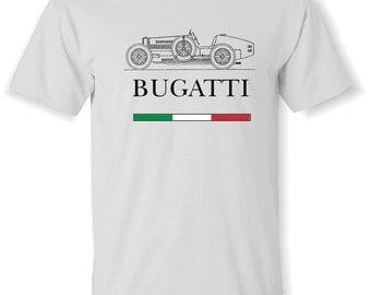 BUGATTI VINTAGE Look T-Shirt Shirt. S,M,L,XL. White, Ash Grey  100% Cotton pre-shrunk