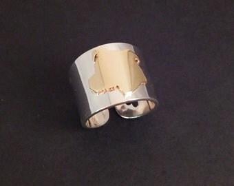 Pit Bull Cuff Ring