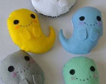 Felt Kawaii Ghostie Plushies