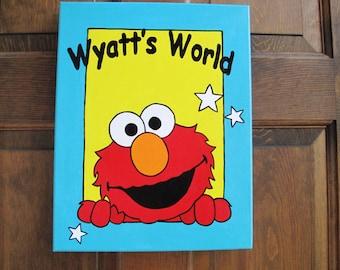 Elmo Canvas Room Sign