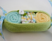 Peas in the Pod Baby Washcloth Gift