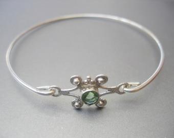 GREEN AMETHYST FANCY bangle bracelet