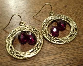 Brass Wreath Earrings (E1019)