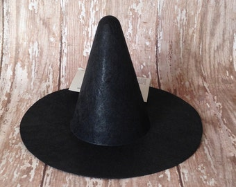 Black Mini Witch Hat | Halloween Costume | 6 Inch Witch Hat