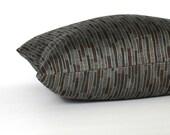 Blue Brown Decorative Accent Stripe Throw Pillow Cover Floor Cushion Euro Sham 26x26 24x24 22x22 20x20 18x18 16x16