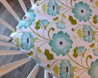 Crib Sheet- Baby Sheet- READY TO SHIP-  Floral Crib Sheet- Fitted Crib Sheet- Girl Crib Sheet