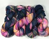 Merino Superwash Worsted, Hand Dyed Yarn, Another Galaxy, worsted weight, superwash merino, multicolored yarn