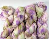 Simple Sock, Sock Yarn, Hand Dyed Yarn, Superwash Merino,Nylon, Lavender Fields, Hand Painted Yarn, Fingering Yarn, Yarn