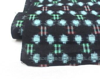 Japanese Vintage Kasuri Ikat. Woven Indigo Cotton Bolt. Traditional Folk Fabric. Bingo (Ref: 1409)