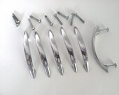 Mid Century Set of Six Hardware Pulls/Handles Made in Japan, 1950