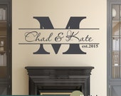 Family Name Decal - Personalized - Family Name Established - Vinyl Wall Art Decal Sticker - WD0352
