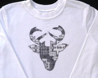 Deer Shirt / Deer Applique / todfler boys