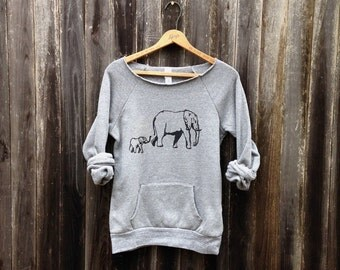 me and mama Elephant Sweatshirt, Elephant Sweater, Mother's Day Gift, S,M,L,XL,2XL